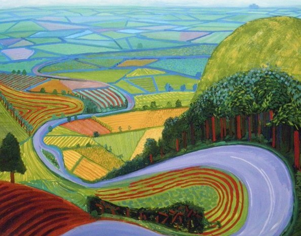 "David Hockney ""Garrowby Hil."" 1998"