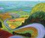 """David Hockney """"Garrowby Hil."""" 1998"""